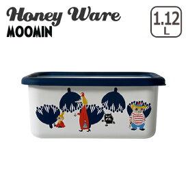 富士ホーロー 琺瑯 深型角容器M ムーミン&フラワーシリーズ MTA-DM Honey Ware ハニーウェア ギフト・のし可