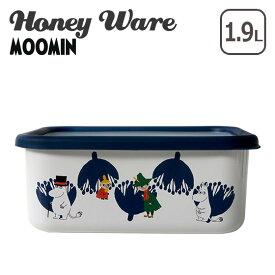 富士ホーロー 深型角容器 L ムーミン&フラワーシリーズ MTA-DL Honey Ware ハニーウェア ギフト・のし可