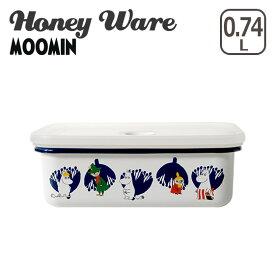 富士ホーロー 琺瑯 ランチボックスM ムーミン&フラワーシリーズ MTA-LBM Honey Wareハニーウェア ギフト・のし可