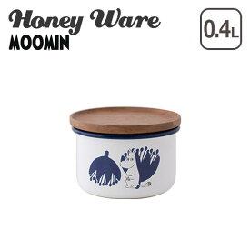 富士ホーロー ムーミン 保存容器 琺瑯 9cmキャニスター S ムーミン&フラワーシリーズ MTA-9CNS.A Honey Wareハニーウェア ギフト・のし可