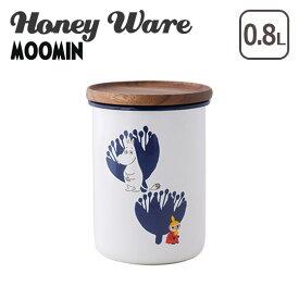 富士ホーロー ムーミン 保存容器 琺瑯 9cmキャニスター L ムーミン&フラワーシリーズ MTA-9CNL.A Honey Wareハニーウェア ギフト・のし可