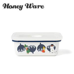 富士ホーロー バターケース 200g用 ムーミン&フラワーシリーズ Honey Ware ハニーウェア 琺瑯 ギフト・のし可