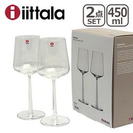 【24時間ポイント5倍】iittala イッタラ Essence(エッセンス)レッドワイン 450ml クリア 2個セット ギフト・のし可