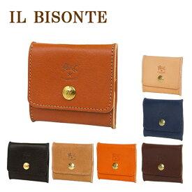 イルビゾンテ コインケース 小銭れ メンズ レディース IL BISONTE C0774 選べるカラー コンパクト ボックス型 スクエア型