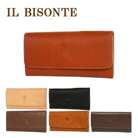 イルビゾンテ 財布 長財布 メンズ レディース IL BISONTE C0775 三つ折り 選べるカラー ギフト・のし可