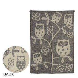 KLIPPAN クリッパン ウール ミニブランケット 65x90 Tree Owl ライトグレー ギフト・のし可