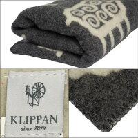 KLIPPAN(クリッパン)ウールブランケット130x180Sheepグレー