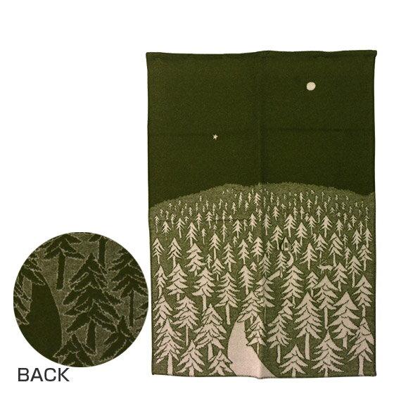 KLIPPAN クリッパン ウールブランケット 130x180 HOUSE IN THE FOREST グリーン【楽ギフ_包装】