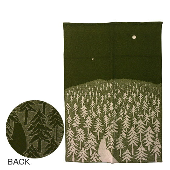 KLIPPAN クリッパン ウールブランケット 130x180 HOUSE IN THE FOREST グリーン ギフト可