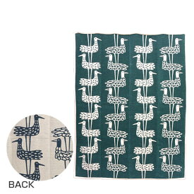 KLIPPAN クリッパン オーガニックコットン&シュニール織り ブランケット 140x180 Shore Birds ブルー ギフト可