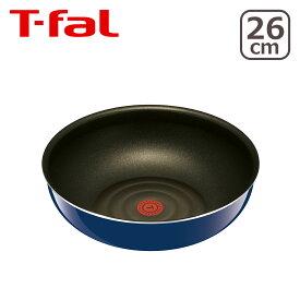 ティファール T-fal 直火専用(IH不可) インジニオ・ネオ・グランブルー・プレミア ウォックパン 26cm L61477 単品:フタと取っ手は付属しません