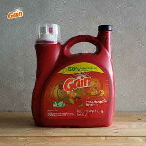 [洗濯用洗剤]Gain リキッド アップルマンゴ 4430ml(Gain Liquid Detergent Apple Mango Tango・マンゴー・4.43L・洗濯洗剤・衣類用洗剤・大容量・海外洗剤・おしゃれ・大きい洗剤)米国P&G:ゲイン