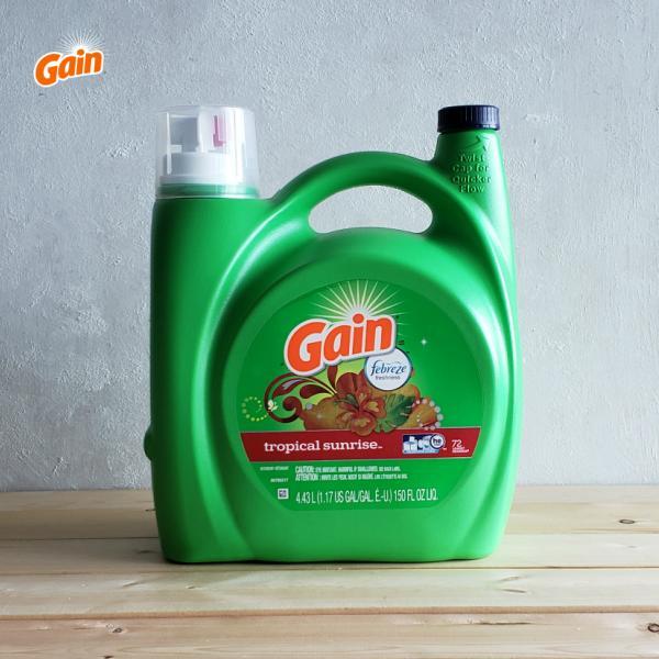 [洗濯用洗剤]Gain トロピカルサンライズ 4430ml(Gain Liquid Detergent TROPICAL SUNRISE・4.43L・洗濯洗剤・衣類用洗剤・大容量・海外洗剤・おしゃれ・大きい洗剤)米国P&G:ゲイン