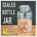 【ガラス容器】ガラス密閉ボトル 4.0L クリップジャー (保存瓶・保存容器・ガラス瓶 CLIPJAR ガラスジャー 4リ…