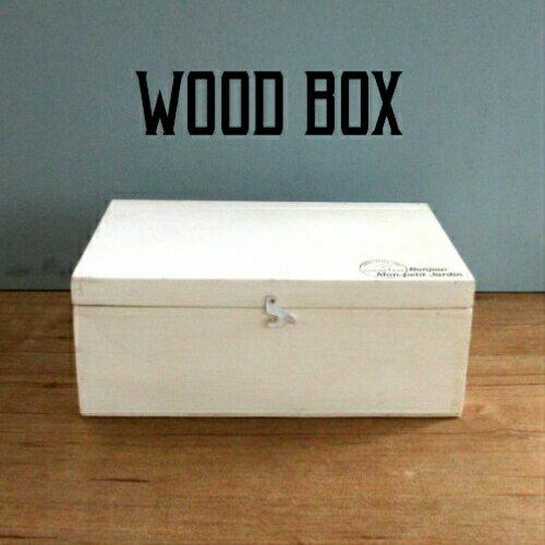 【蓋付き木箱】木製ボックス 蓋付moku ホワイト 305×200×125mm(アンティーク・おしゃれ・ウッドボックス・収納・ナチュラ・BOX)不二貿易