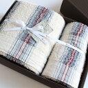 今治タオル コンテックス 40ストライプ ギフトセットImabari Towel Kontex 40 Stripe GiftSetバスタオル1枚xフェイス…