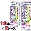 [送料無料]プルーンFe 1日分の鉄分 のむヨーグルト 糖質・カロリーオフ 190g×18本×2ケース(36本)
