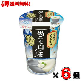【送料無料!】雪印メグミルク アジア茶房 2層であじわう 黒ごま白ごまプリン 170g×6個
