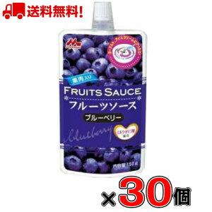 【送料無料!】森永 フルーツソース ブルーベリー 150g×30個