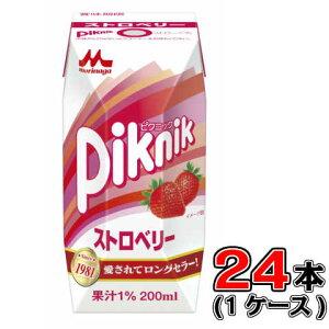 森永 ピクニック ストロベリー 200ml×24本【ミルク】【いちご】【遠足】