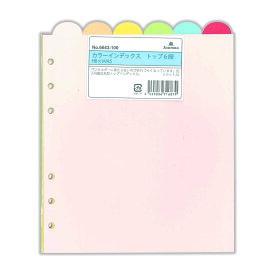アシュフォード システム手帳 リフィル カラーインデックス トップ6段 HB×WA56643-100