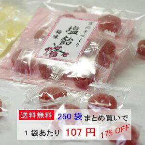 節電対策、熱中症対策に☆塩飴 梅味☆京のあめ 【業務用】250袋【送料込】【まとめ買い】
