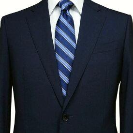 春夏 ロンナー(ゼニア生地) メンズスーツ JPクラシックモデル シングル2ボタン R(A)・C(AB)・L(BE) ネイビー 日本製 紳士服 メンズ LONNER 7k010162-0031j