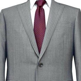 春夏 ロンナー メンズスーツ ブルーステッチモデル シングル2ボタン C(AB) グレー(ストライプ) 日本製 紳士服 メンズ LONNER 7k020162-3831b