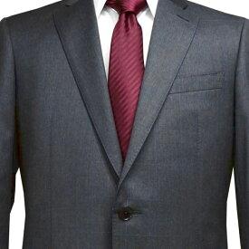 春夏 ロンナー(REDA服地) メンズスーツ ブルーステッチモデル シングル2ボタン R(A体) グレー(ウィンドゥペン) 日本製 紳士服 メンズ LONNER 7k020162-3861b