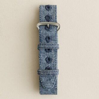 J.CREW 周杰伦...船员的手表表带手表表带 (光蓝纺)