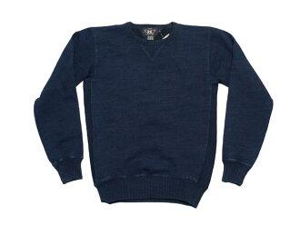 RRL双公亩L INDIGO SWEAT SHIRT靛蓝运动衫(INDIGO)