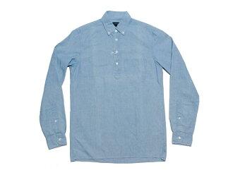J.CREW 제이 크루 Japanese chambray popover shirt 일본 샹 브 레 팝 오버 셔츠 (CHAMBRAY)