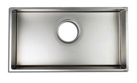 トヨウラ製 板金シンク N800BSS (バイブレーション仕上げ)内寸 800×410 アンダーシンク ステンレスシンク