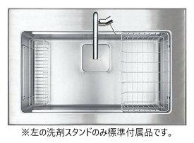シゲル工業製 PSSA-JSM-K 2F FS(外寸:900×580)(専用排水セット含む)(静音タイプ)(オーバーシンク)【ステンレスシンク】