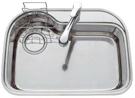 ナスラック EシンクL ※排水セット付属(外寸810×570)(アンダーシンク)【ステンレスシンク】