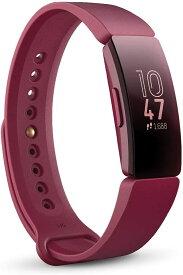 スマートウォッチ Fitbit Inspire フィットビット インスパイア フィットネストラッカー サングリア Sangria タッチスクリーン操作 耐水50m 着信/SMS/アプリ(LINE/Twitter/Facebook)通知 iOS/android対応 睡眠 歩数&距離&カロリー L/Sサイズ 並行輸入品