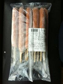 【送料無料】荒挽串ざしフランク(ポーク&チキン)110g 10本×10袋×1合