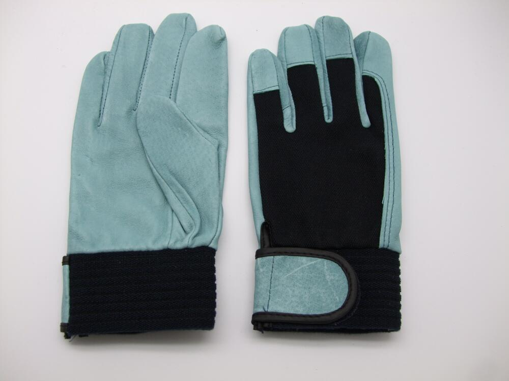 豚革手袋 シモン PL-127 豚オイル 作業手袋 1双