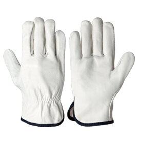作業手袋 牛革手袋 クレスト 10双組 シモン CG-720 (720P白)