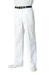 白衣ズボン フロントファスナー KH-420 ポリエステル65%綿35% 男性用 チトセ【chitose】(kh420)