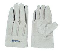 作業革手袋 皮手袋 牛床革手袋 背縫い シモン simon 107AP 10双組