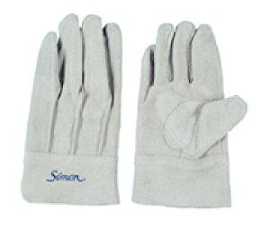 作業革手袋 皮手袋 牛床革手袋 背縫い シモン simon 107AP