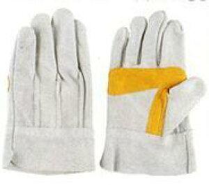 作業革手袋(皮手袋) 牛床革手袋 背縫い 10双組 シモン 107AP銀当付3型