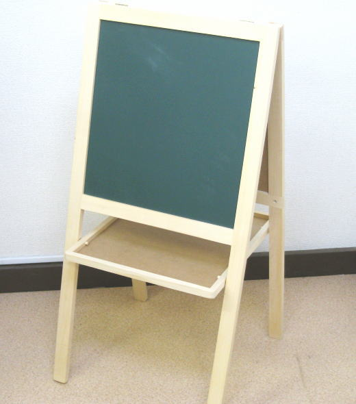 箱なしB級品両面ディスプレイボード木製スタンド看板メニューボード[WB-1607]マグネット可