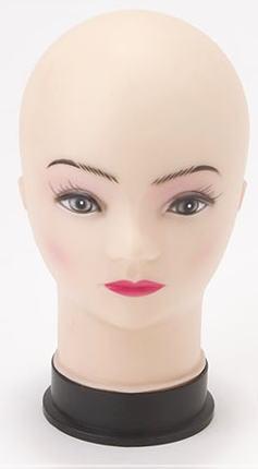 【箱なし・訳あり】頭のマネキン女性ヘッドトルソー坊主(ボウズ)頭ウィッグ無し[MK-1621]【HLS_DU】