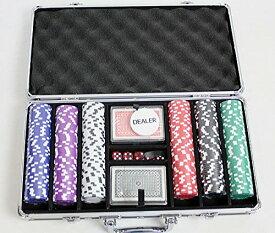 ポーカーチップ300カジノゲームアタッシュケース入チップ[PC-2246][PC-2840]ポーカーチップ【HLS_DU】ポーカーチップ ポーカーチップセット
