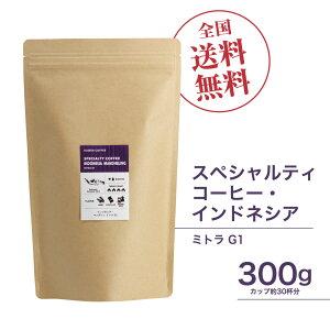 珈琲豆[300g]インドネシア・マンデリン ミトラ G1 スペシャルティコーヒー豆 自家焙煎 ギフト 送料無料