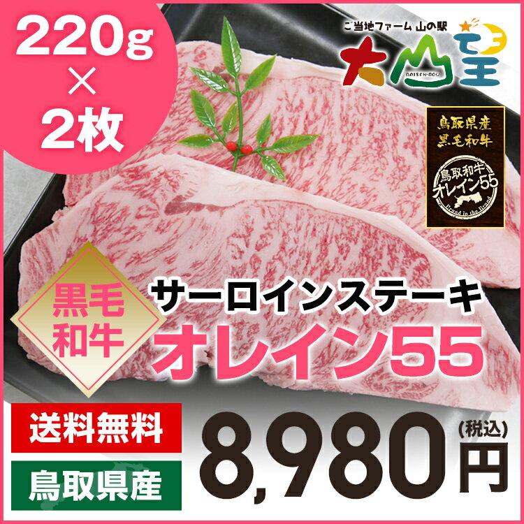 送料無料 サーロインステーキ 220g×2枚 鳥取和牛オレイン55 ステーキ肉 ステーキ 和牛 オレイン55 オレイン牛 シャトーブリアン ヒレ フィレ フィレ肉好きに