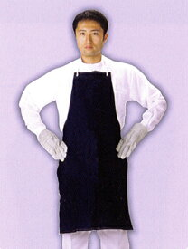 【デニム製品】 デニム胸付前掛テープ紐 ポケット無 ND-010 サイズ:フリー ※代引き不可※【NB】