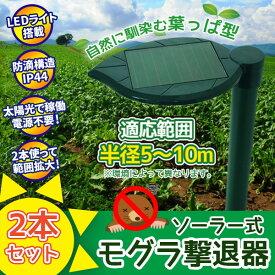 SIS ソーラー式 モグラ撃退器(2個セット)【SIS】